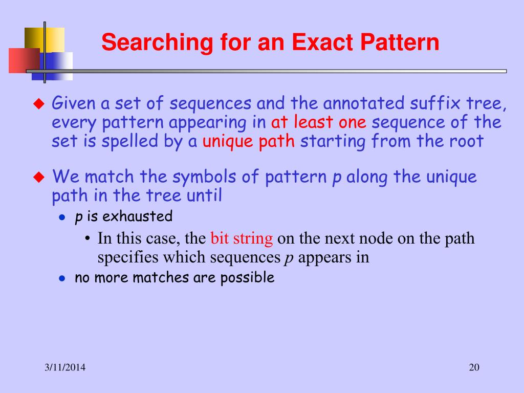 Searching for an Exact Pattern