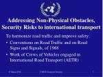 addressing non physical obstacles security risks to international transport7