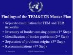 findings of the tem ter master plan