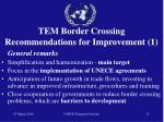 tem border crossing recommendations for improvement 1