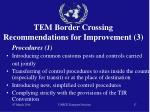 tem border crossing recommendations for improvement 3