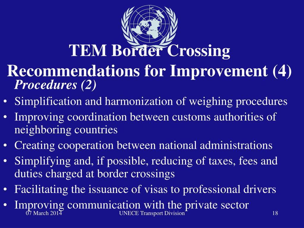 TEM Border Crossing