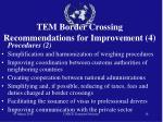 tem border crossing recommendations for improvement 4