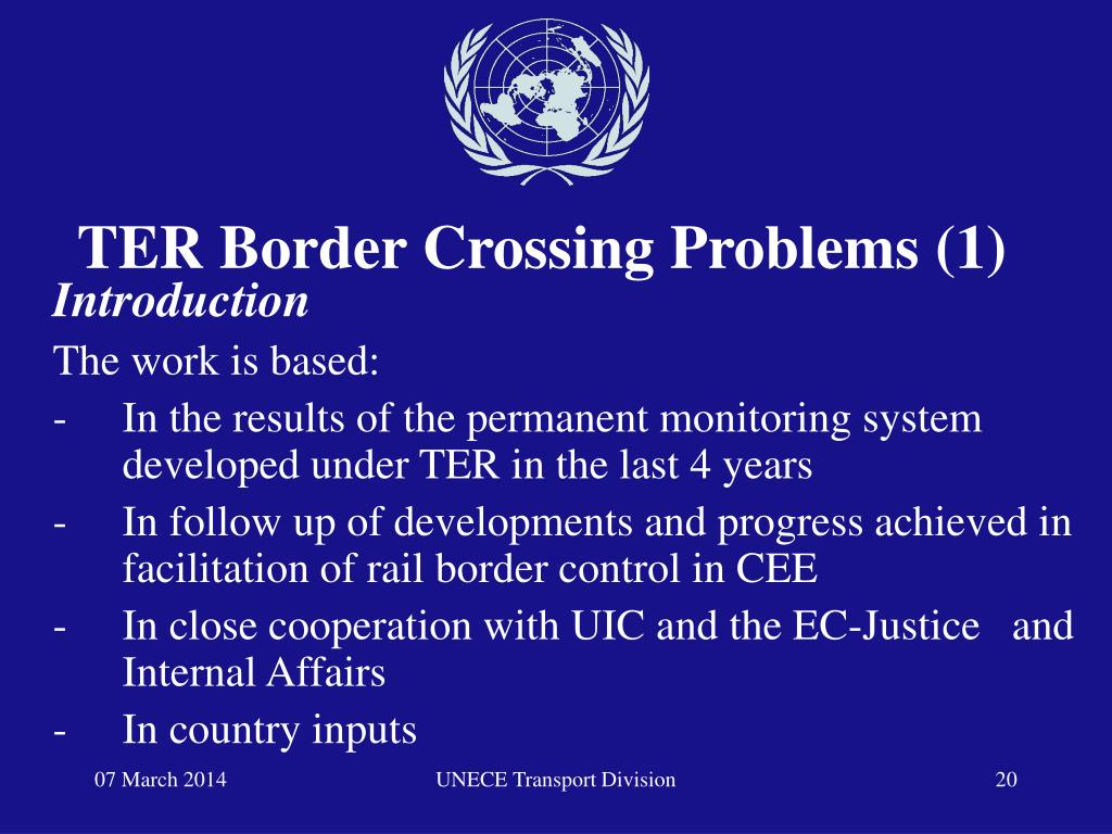 TER Border Crossing Problems (1)