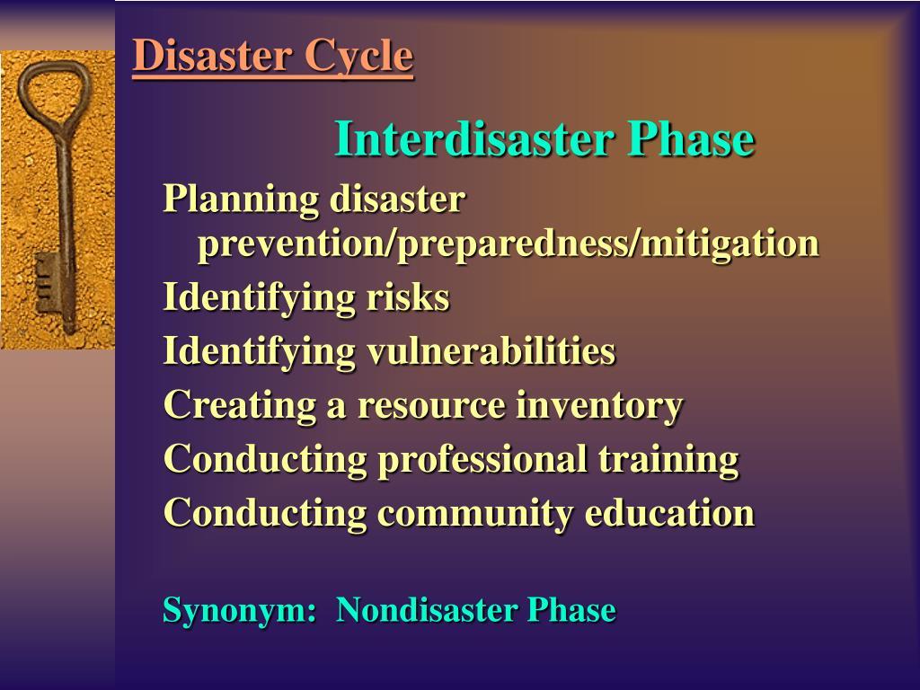 Interdisaster Phase