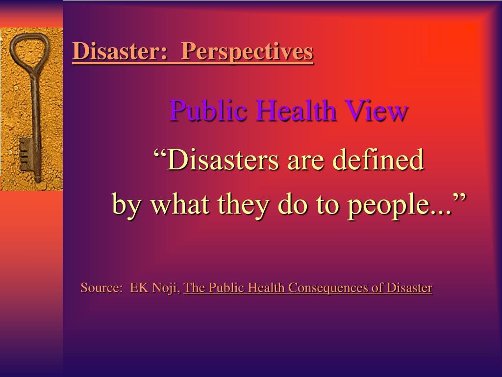 Public Health View