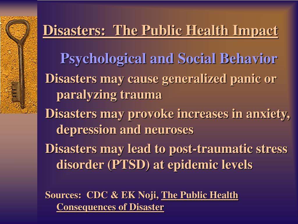Psychological and Social Behavior