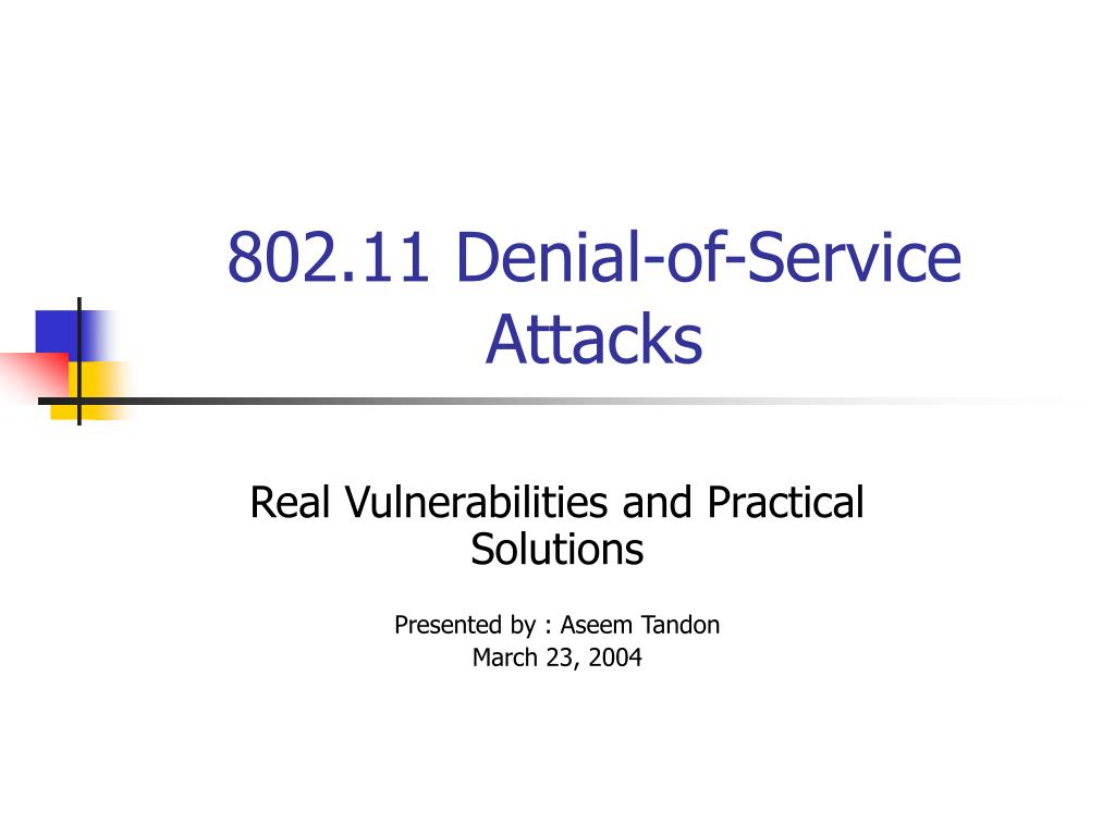 802 11 denial of service attacks