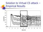 solution to virtual cs attack empirical results