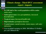 climate change third ipcc assessment report impacts