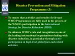 disaster prevention and mitigation programme 3