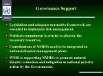 governance support