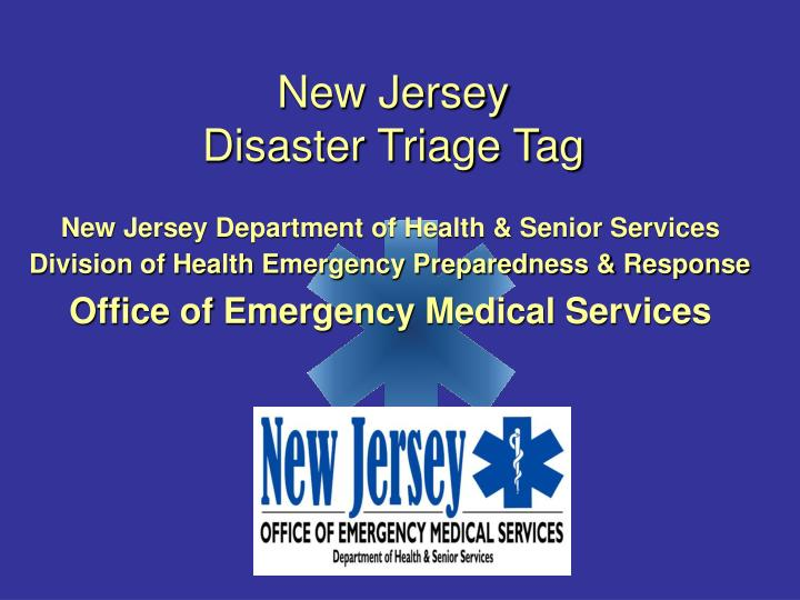 new jersey disaster triage tag n.
