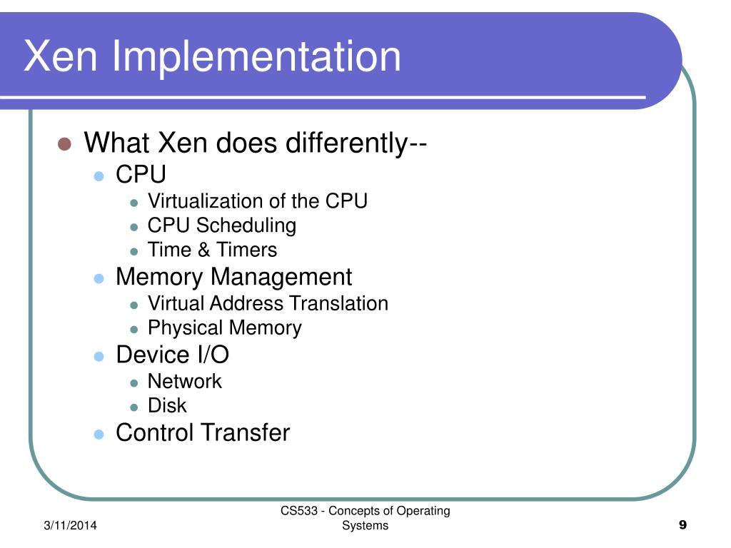 Xen Implementation