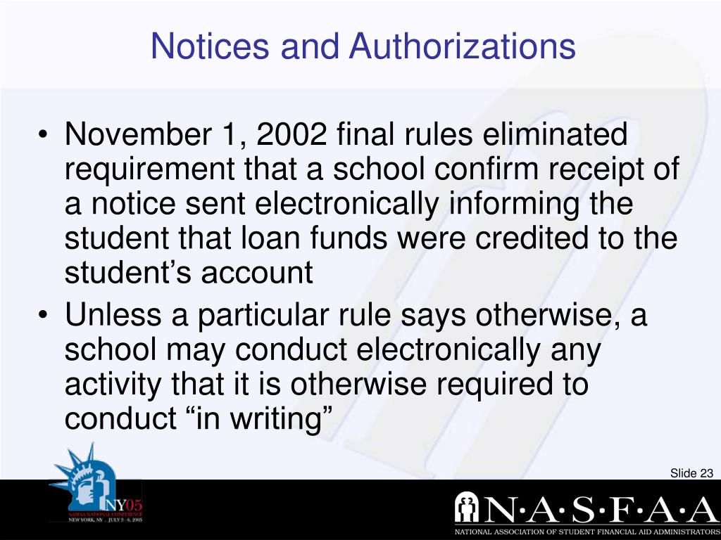 Notices and Authorizations