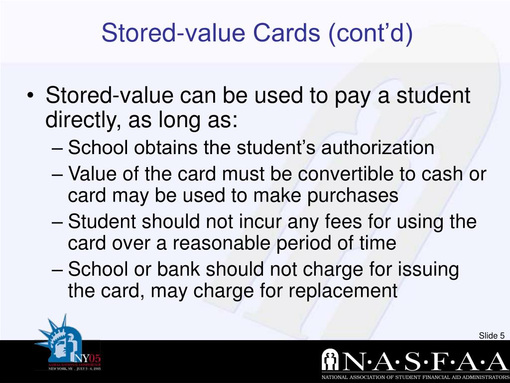 Stored-value Cards (cont'd)