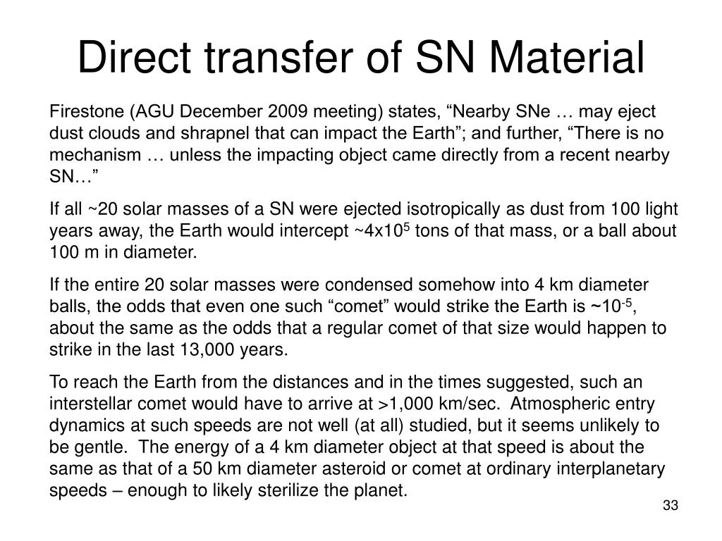 Direct transfer of SN Material
