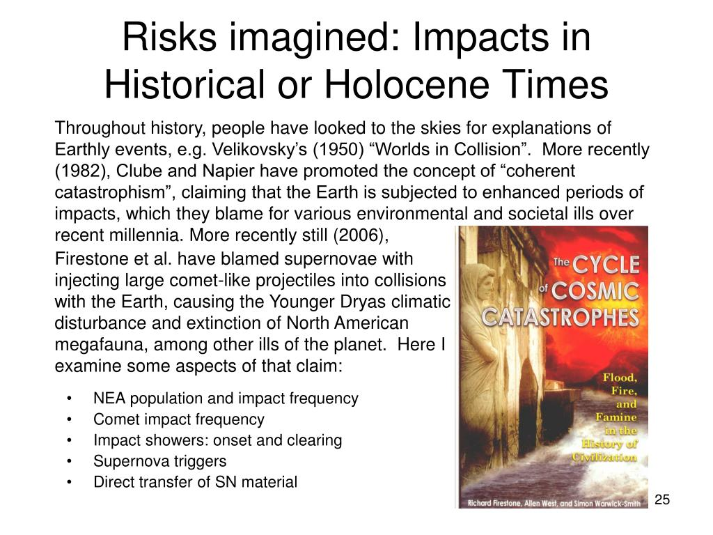 Risks imagined: Impacts in Historical or Holocene Times