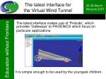 the latest interface for the virtual wind tunnel