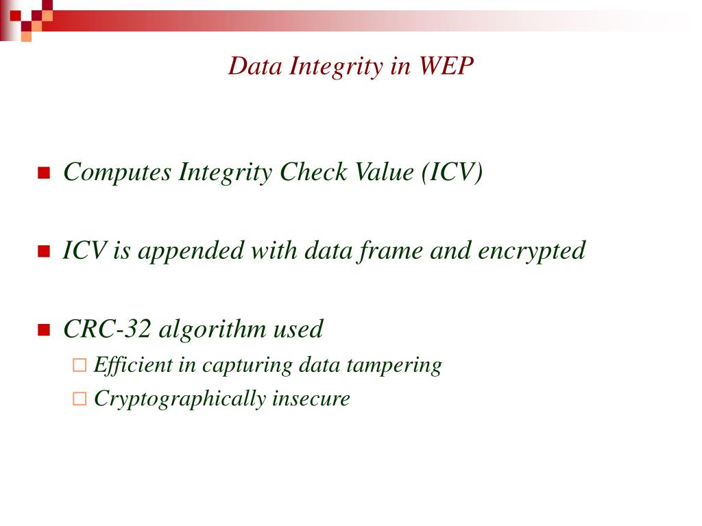 Data Integrity in WEP