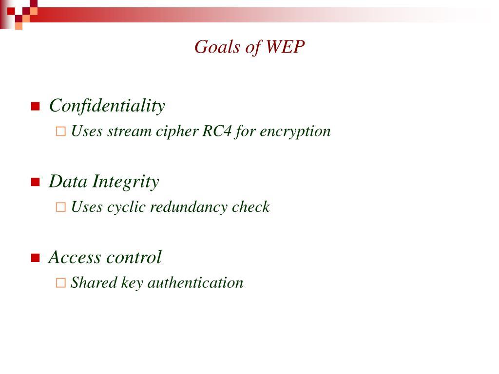 Goals of WEP