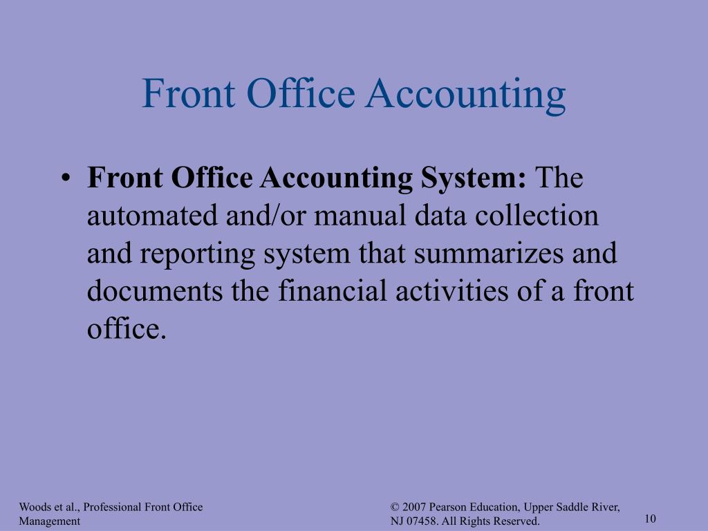 Front Office Accounting