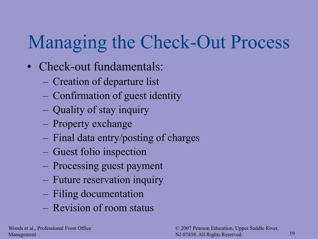 Managing the Check-Out Process
