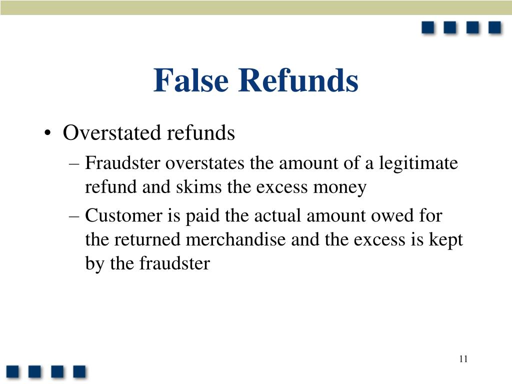 False Refunds