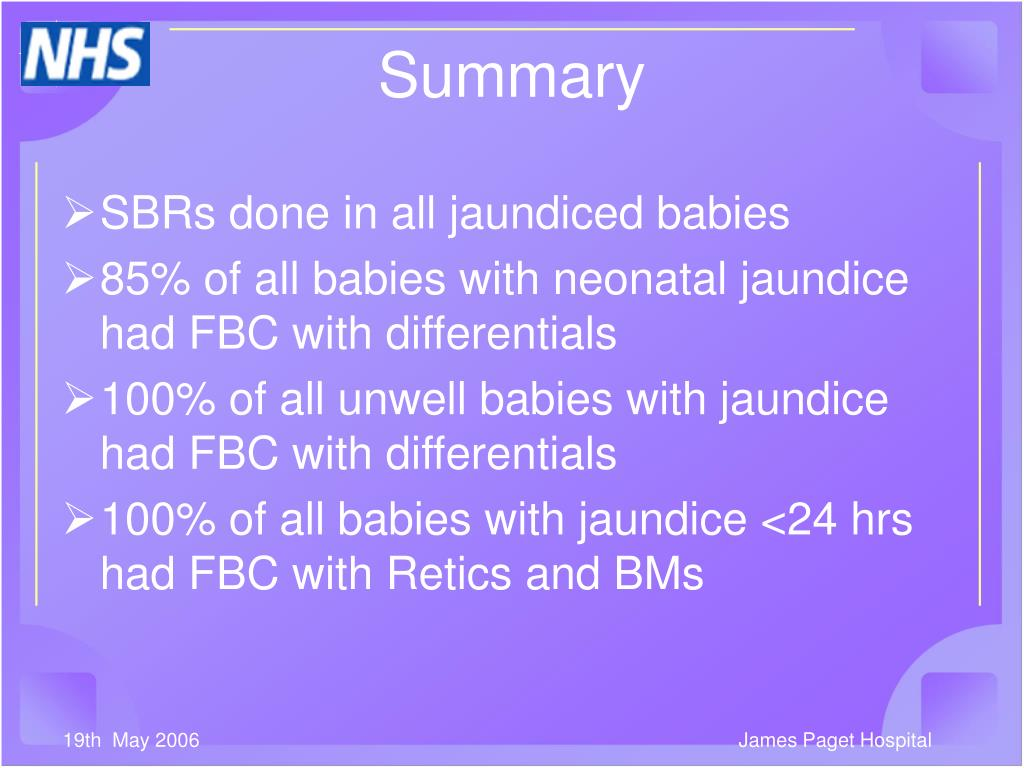 SBRs done in all jaundiced babies