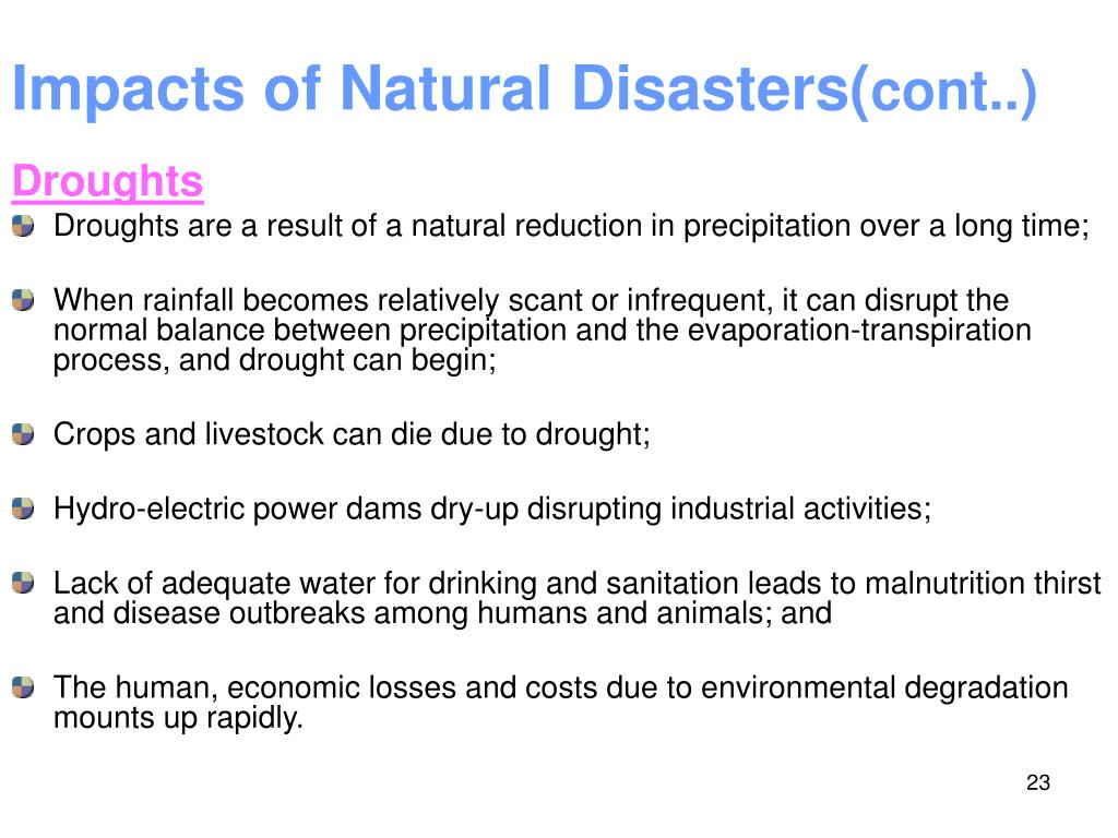 the impacts of natural disasters on