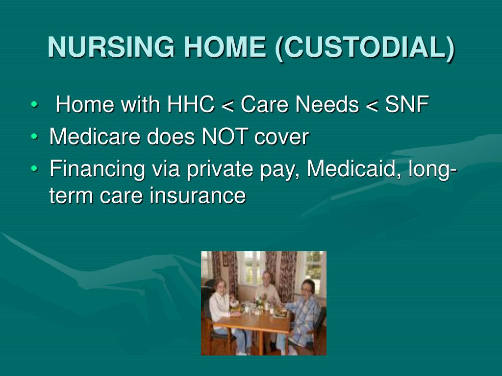 NURSING HOME (CUSTODIAL)