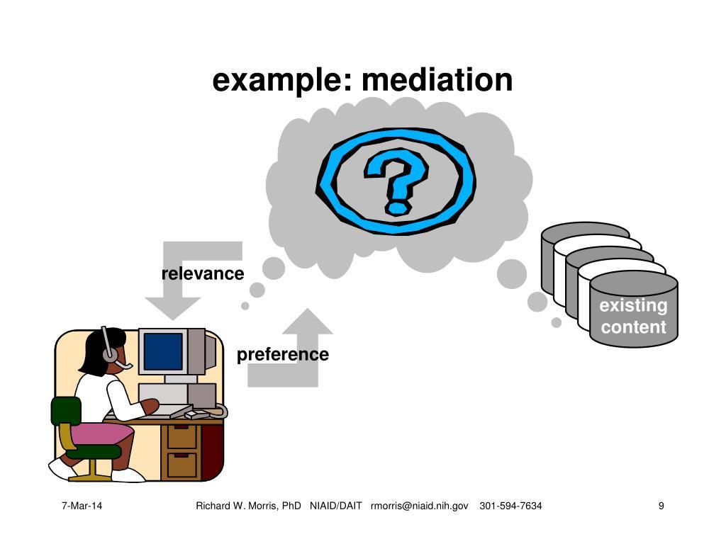 example: mediation