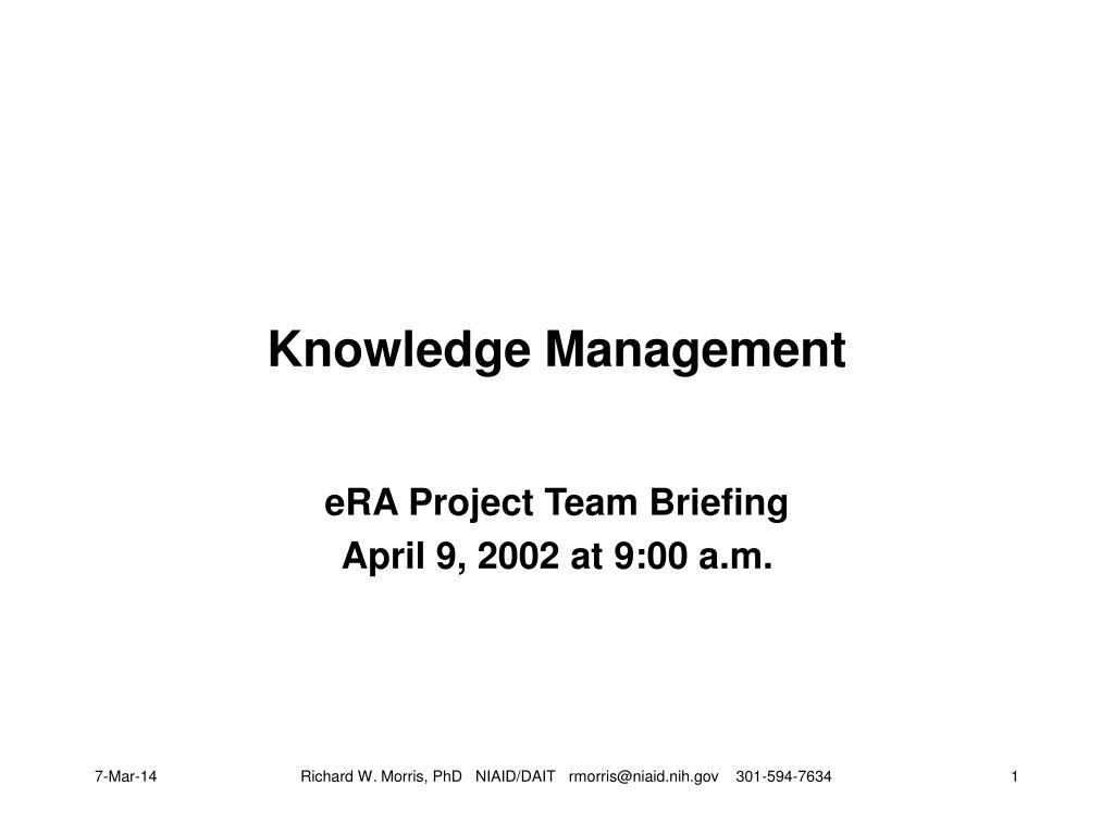 knowledge management l.