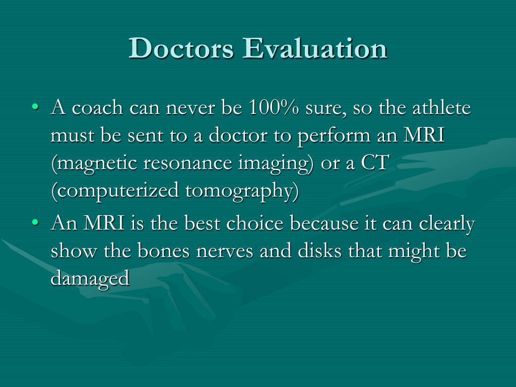 Doctors Evaluation
