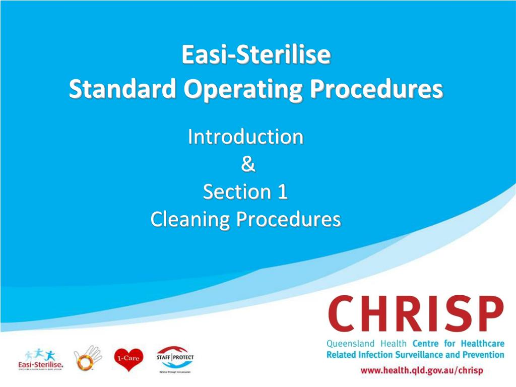 easi sterilise standard operating procedures l.