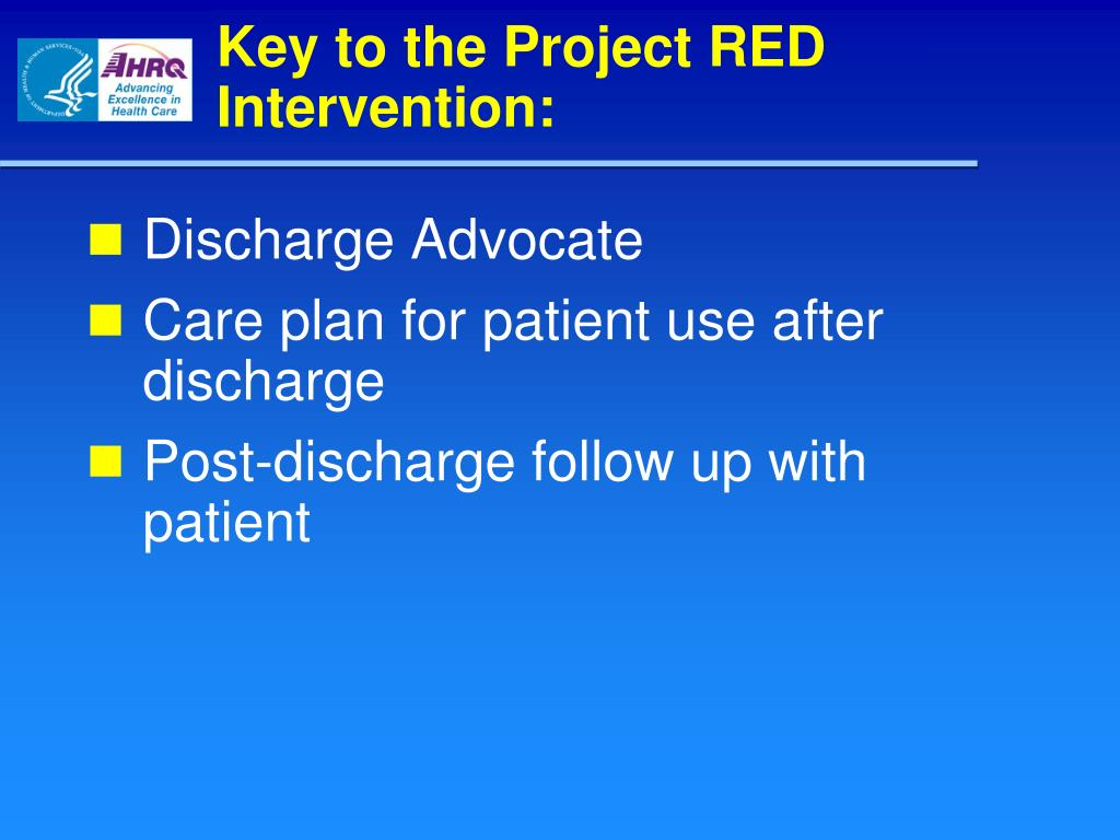Key to the Project RED Intervention:
