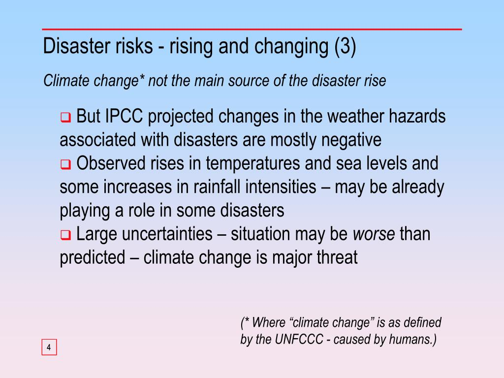 Disaster risks - rising and changing (3)