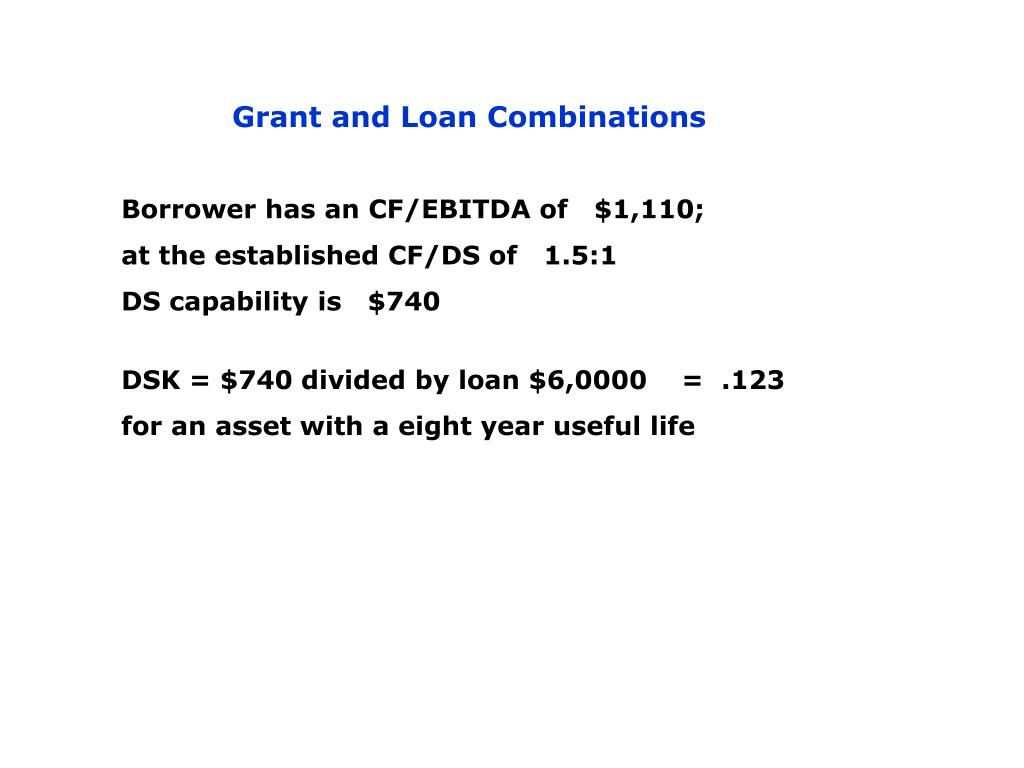 Grant and Loan Combinations