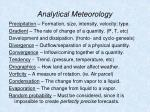 analytical meteorology58