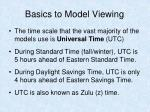 basics to model viewing