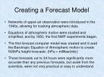 creating a forecast model12