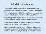 model initialization