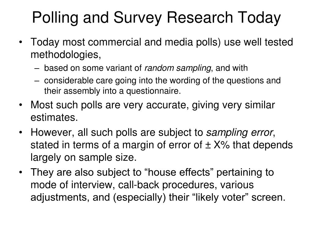 Polling and Survey Research Today