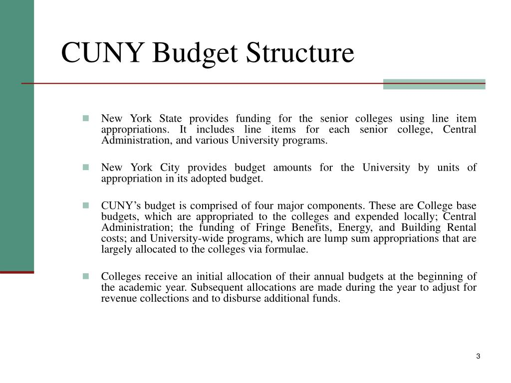 CUNY Budget Structure