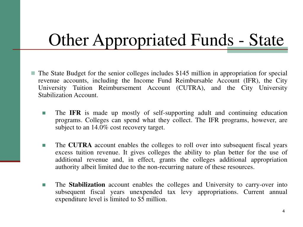 Other Appropriated Funds - State