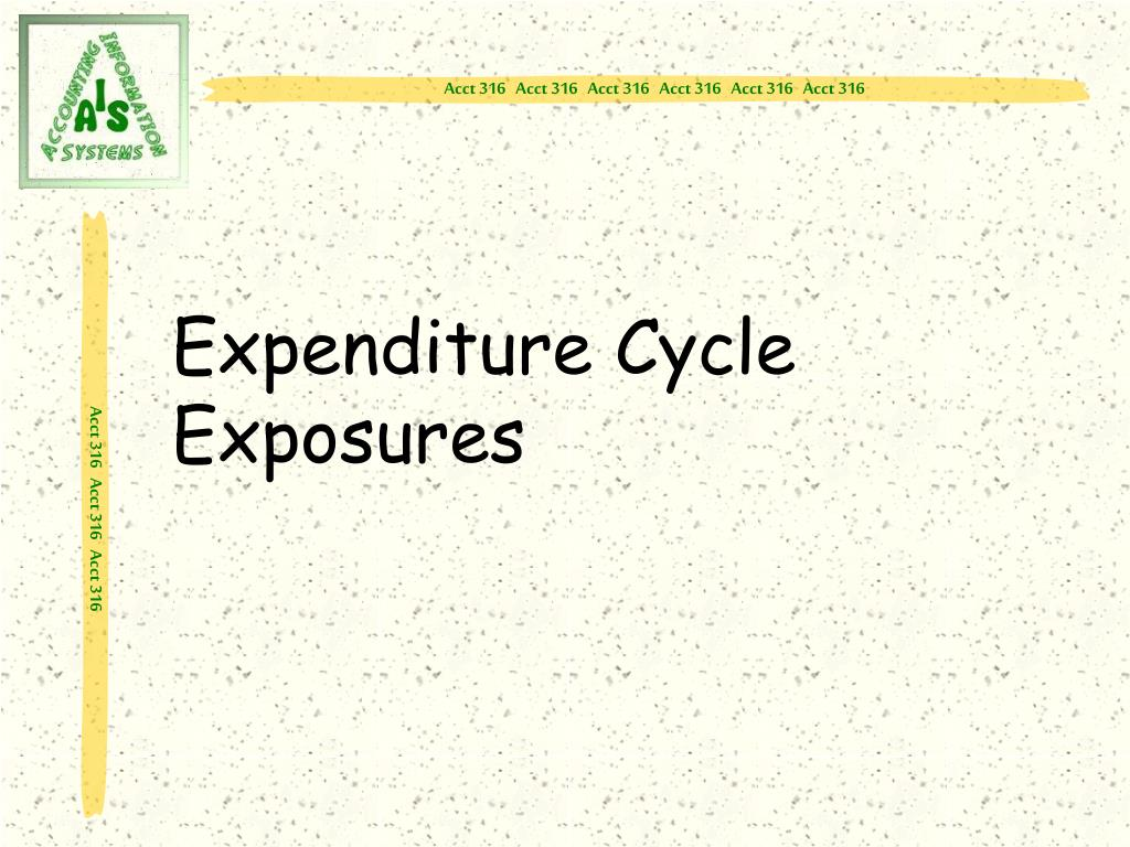 Expenditure Cycle Exposures
