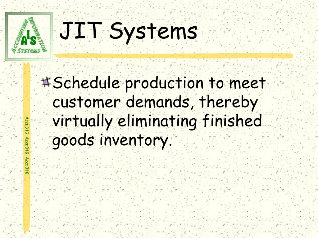 JIT Systems
