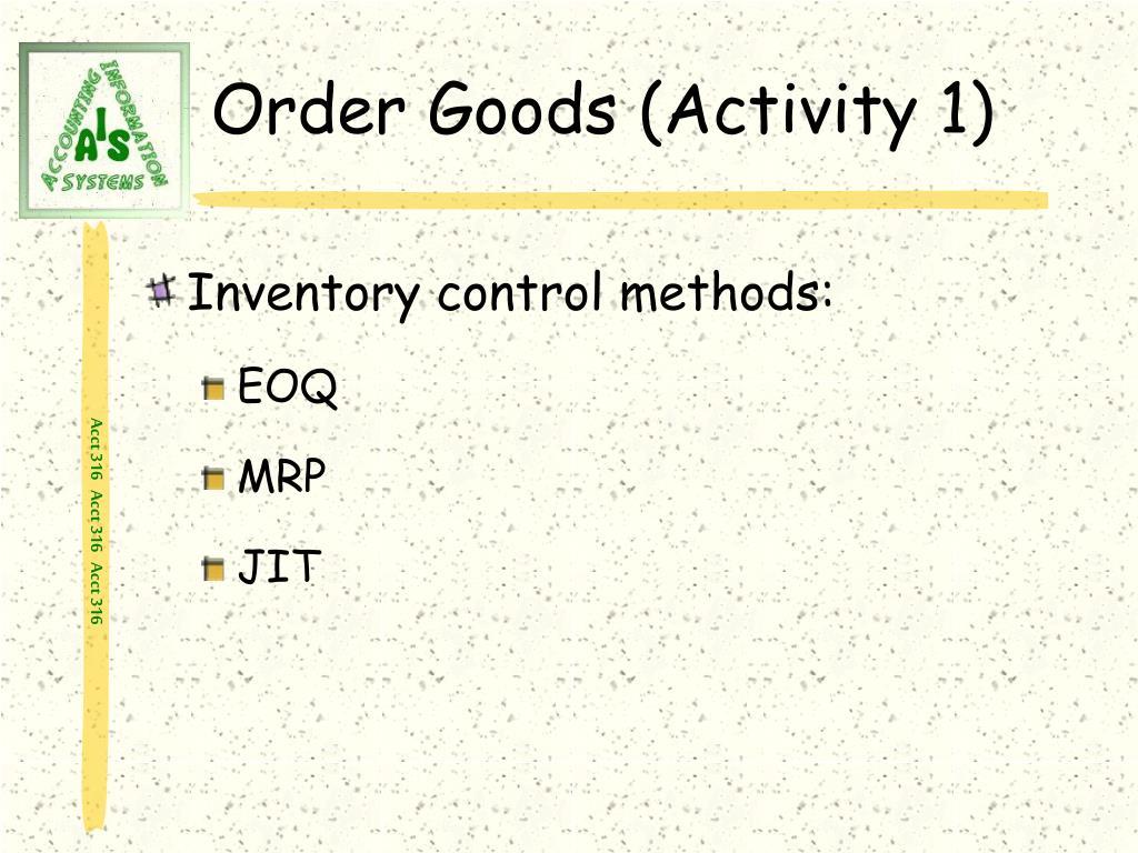 Order Goods (Activity 1)