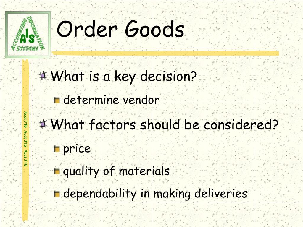 Order Goods