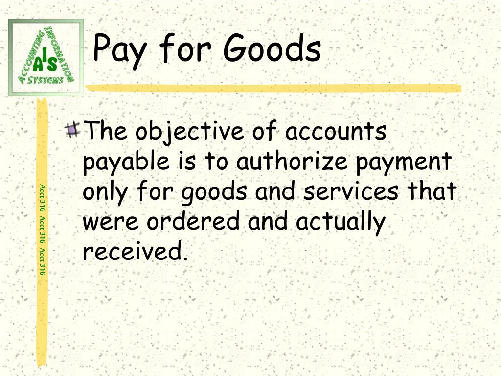Pay for Goods